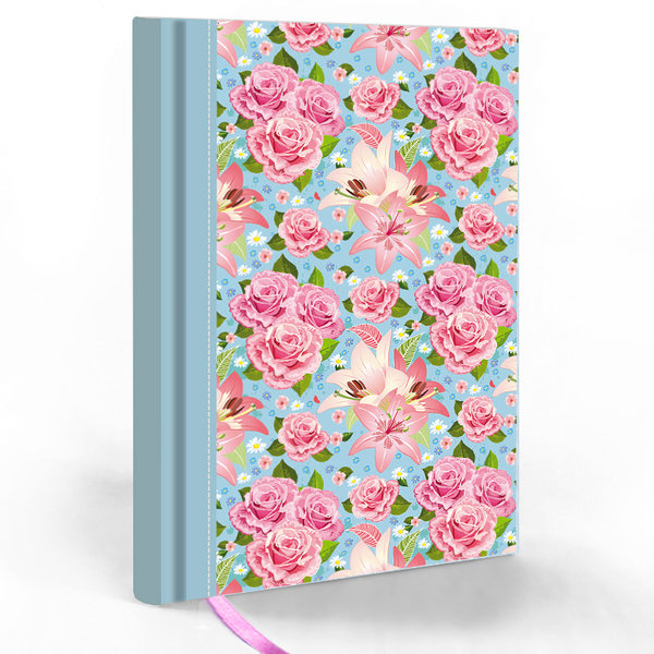 "Hardcover Notizbuch ""Rose"""